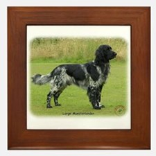 Large Munsterlander 9W020D-031 Framed Tile