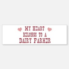 Belongs to Dairy Farmer Bumper Bumper Bumper Sticker