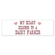 Belongs to Dairy Farmer Bumper Bumper Sticker