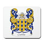 Cunha Family Crest Mousepad