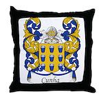 Cunha Family Crest Throw Pillow