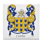 Cunha Family Crest Tile Coaster