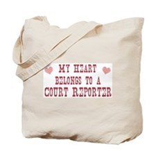 Belongs to Court Reporter Tote Bag