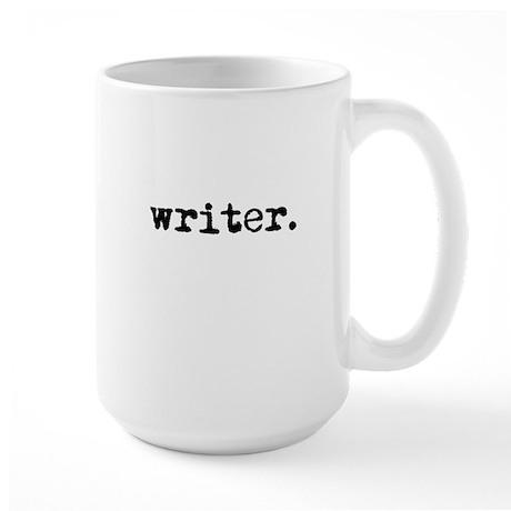 writer. (black text) Large Mug