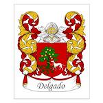 Delgado Family Crest Small Poster