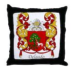 Delgado Family Crest Throw Pillow