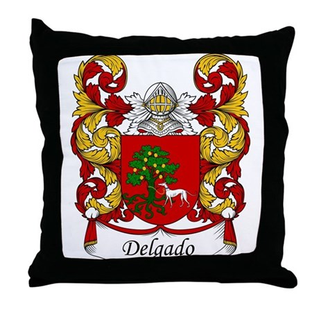 Delgado Family Crest Throw Pillow