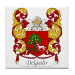 Delgado Family Crest Tile Coaster