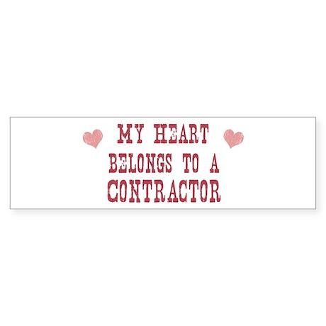 Belongs to Contractor Bumper Sticker