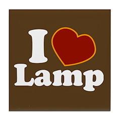 I Love Lamp Tile Coaster