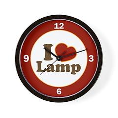 I Love Lamp Wall Clock