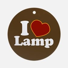 I Love Lamp Ornament (Round)
