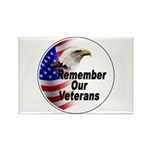 Remember Our Veterans Rectangle Magnet (10 pack)