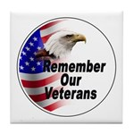 Remember Our Veterans Tile Coaster