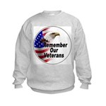 Remember Our Veterans Kids Sweatshirt