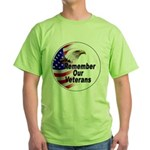 Remember Our Veterans Green T-Shirt