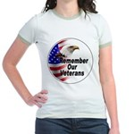Remember Our Veterans (Front) Jr. Ringer T-Shirt