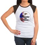 Remember Our Veterans (Front) Women's Cap Sleeve T