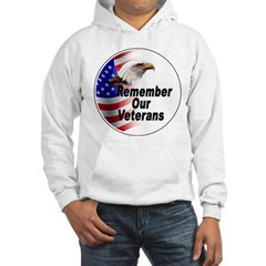 Remember Our Veterans (Front) Hoodie