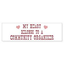 Belongs to Community Organize Bumper Bumper Sticker