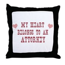 Belongs to Attorney Throw Pillow