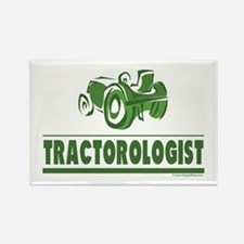 Green Tractor Rectangle Magnet (100 pack)