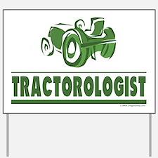 Green Tractor Yard Sign