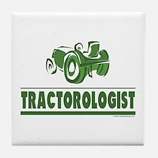 Green Tractor Tile Coaster