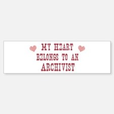 Belongs to Archivist Bumper Bumper Bumper Sticker