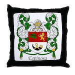 Espinosa Family Crest Throw Pillow