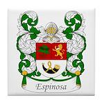 Espinosa Family Crest Tile Coaster