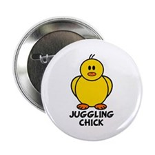 """Juggling Chick 2.25"""" Button"""