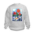 Fish and Flowers Art Kids Sweatshirt