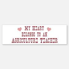 Belongs to Agriculture Teache Bumper Bumper Bumper Sticker