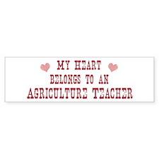 Belongs to Agriculture Teache Bumper Bumper Sticker