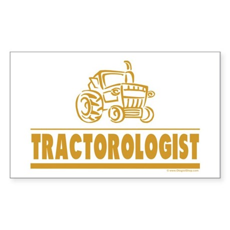 Funny Tractor Sticker (Rectangle)