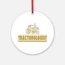 Funny Tractor Ornament (Round)