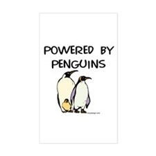 Powered by Penguins Rectangle Decal