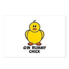 Gin Rummy Chick Postcards (Package of 8)