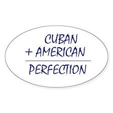 Cuban American heritage Oval Decal