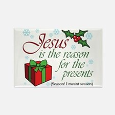 Jesus is the Reason Rectangle Magnet