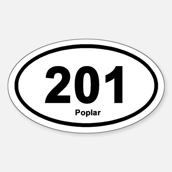 201 Poplar Oval Decal