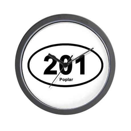 201 Poplar Wall Clock