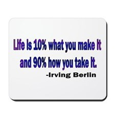 Irving Berlin quote Mousepad
