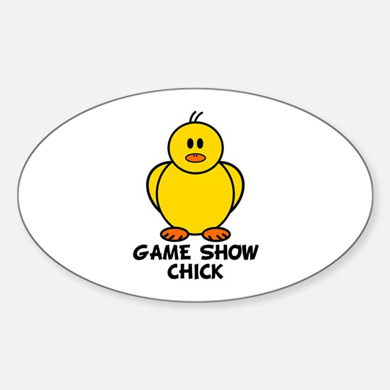 Game Show Chick Oval Decal