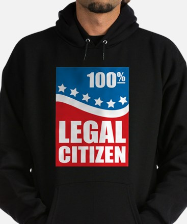 100% Legal Citizen Hoodie (dark)