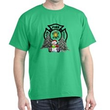 Fire Dept Christmas T-Shirt