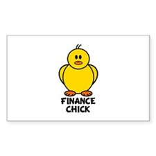 Finance Chick Rectangle Decal