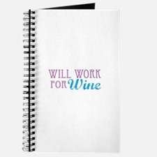 Will Work for Wine Journal