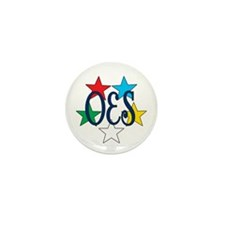Eastern Star Circle of Stars Mini Button (10 pack)
